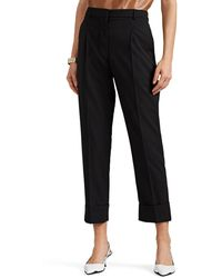 Prada - Worsted Wool Pleated Trousers - Lyst