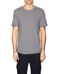 Vince - Striped Cotton-blend T - Lyst