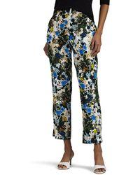 Erdem - Gianna Floral Slim Crop Trousers - Lyst