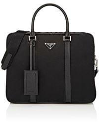 Prada - Slim Double Briefcase Tote Bag  - Lyst
