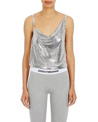 Paco Rabanne - Metal Mesh Draped-front Top - Lyst