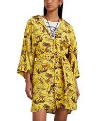 R13 - Hawaiian-print Belted Kimono-style Shirtdress - Lyst