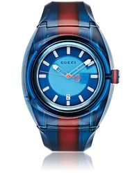 3f7be079df7 Gucci Men s Sync Stainless Steel Rubber Watch - Red in Metallic for ...