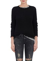R13 - Distressed Cashmere Crewneck Sweater - Lyst