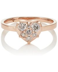 Carbon & Hyde - Mini Heart Ring - Lyst