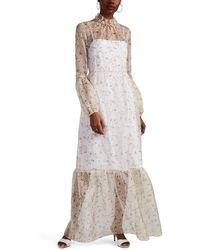By. Bonnie Young - Floral Silk Organza Maxi Dress - Lyst