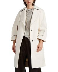 Narciso Rodriguez - Cutout-detailed Cotton Twill Trench Coat - Lyst