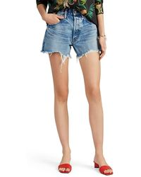 Moussy - Kelley Distressed Denim Shorts - Lyst