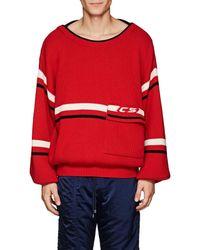 Cmmn Swdn - Striped Merino Wool Oversized Sweater - Lyst