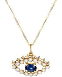 Ileana Makri - Eye Pendant Necklace - Lyst