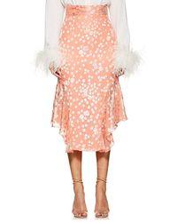 J. Mendel - Floral Fil Coupé Handkerchief Skirt - Lyst