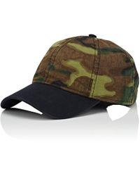 Barneys New York - Camouflage Cotton Baseball Cap - Lyst