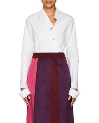 Ji Oh - Asymmetric Cotton Poplin Shirt - Lyst