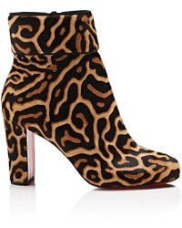 Christian Louboutin - Moulamax Calf Hair Ankle Boots - Lyst