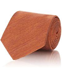 Barneys New York - Herringbone Silk Twill Necktie - Lyst