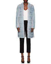 Valentino - Lace-inset Mink Fur Coat - Lyst