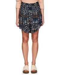 Chloé - Blossom-print Crepe Shorts - Lyst
