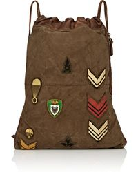 Campomaggi - Canvas & Leather Drawstring Backpack - Lyst