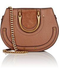Chloé - Pixie Mini Leather & Suede Crossbody Bag - Lyst