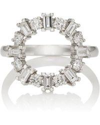 Ileana Makri - White Diamond & White Gold Ring - Lyst