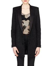 Saint Laurent - Embellished Wool-cashmere Long Two-button Blazer - Lyst