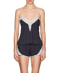 Skin - Gia Lace-trimmed Organic Cotton Camisole-mid - Lyst
