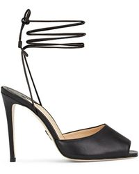 Paul Andrew - Look At Me Leather Ankle Strap Sandals - Lyst