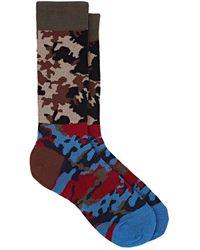 Gosha Rubchinskiy - Camouflage Cotton-blend Mid-calf Socks - Lyst