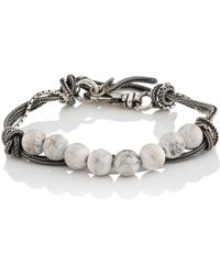 Emanuele Bicocchi - White Marble Beaded Bracelet - Lyst