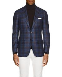 Kiton - Kb Plaid Cashmere-blend Two-button Sportcoat - Lyst