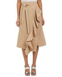 Robert Rodriguez Ruffle-trimmed A-line Skirt - Green