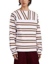 Marni - Striped Cotton Sweatshirt - Lyst