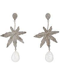 Carole Shashona - Leaf Drop Earrings - Lyst
