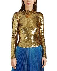 OSMAN - Sequined Top - Lyst