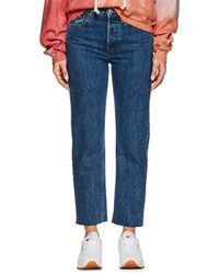 RE/DONE - High Rise Stovepipe Jeans - Lyst