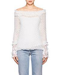 SPENCER VLADIMIR - Cotton Crochet Cold-shoulder Top - Lyst