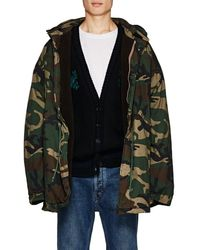 Yeezy - Camouflage Oversized Insulated Cotton Coat - Lyst