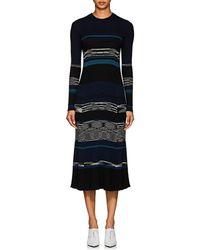 Proenza Schouler - Striped Wool-blend Midi-sweaterdress - Lyst
