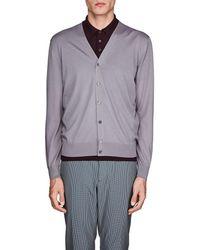 Prada - Virgin Wool V-neck Cardigan - Lyst
