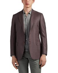 Brioni - Ravello Checked Wool-silk Two-button Sportcoat - Lyst