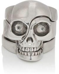 Alexander McQueen - Divided-skull Ring - Lyst