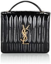 Saint Laurent - Monogram Vicky Large Patent Leather Chain Bag - Lyst