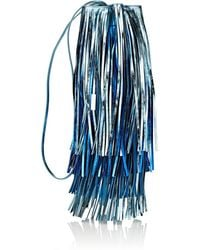 CALVIN KLEIN 205W39NYC - Fringed Leather Bucket Bag - Lyst