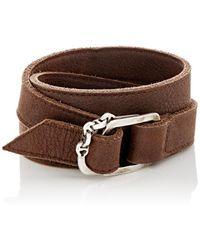 Hoorsenbuhs - Leather Wrap Bracelet - Lyst