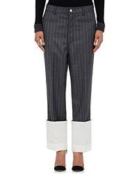 Loewe - Striped Wool Trousers - Lyst
