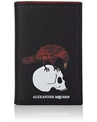 Alexander McQueen - Leather Folding Card Case - Lyst