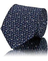 Lanvin - Triangle-print Silk Satin Necktie - Lyst