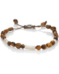 M. Cohen - Tiger's Eye Beaded Bracelet - Lyst