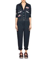 Mira Mikati - Appliquéd Stretch-cotton Jumpsuit - Lyst