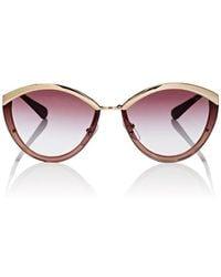 474fe6873795 Lyst - Prada Oval Sunglasses in Blue